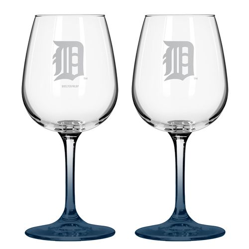 Boelter Brands Detroit Tigers 12 oz. Wine Glasses 2-Pack