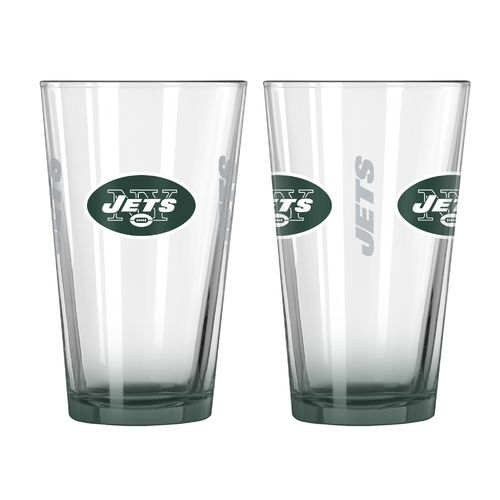 Boelter Brands New York Jets Elite 16 oz. Pint Glasses 2-Pack