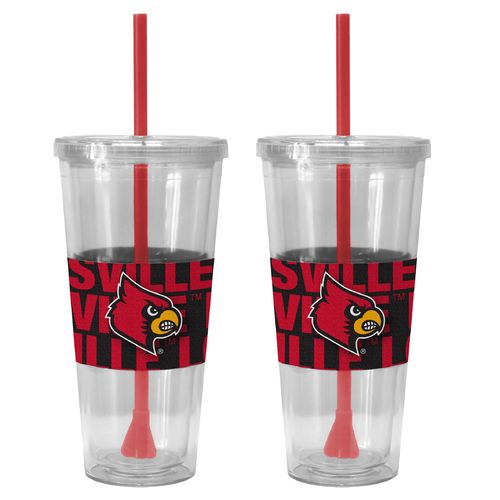Boelter Brands University of Louisville Bold Neo Sleeve 22 oz. Straw Tumblers 2-Pack
