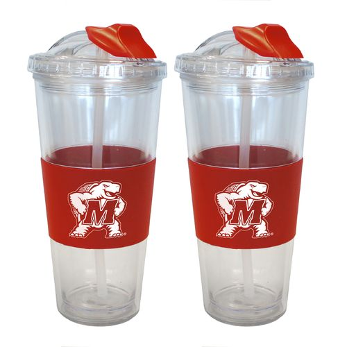 Boelter Brands University of Maryland 22 oz. No-Spill Straw Tumblers 2-Pack