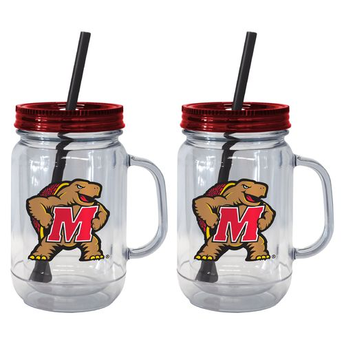Boelter Brands University of Maryland 20 oz. Handled Straw Tumblers 2-Pack
