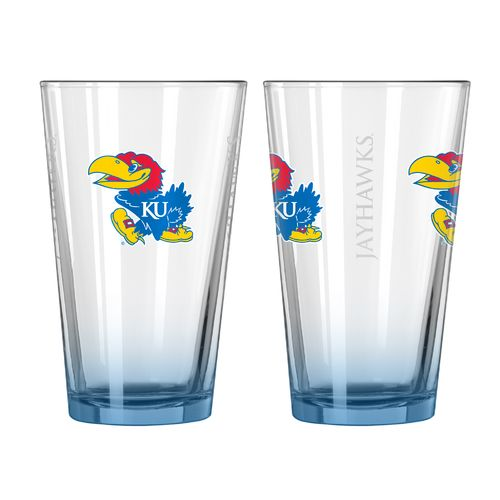 Boelter Brands University of Kansas Elite 16 oz. Pint Glasses 2-Pack