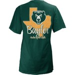 Three Squared Juniors' Baylor University State Monogram Anchor T-shirt