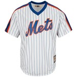 Majestic Men's New York Mets Mike Piazza #31 Cooperstown Cool Base 1986 Replica Jersey - view number 2