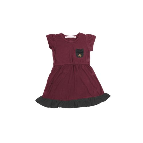 Chicka-d Toddler Girls' Texas State University Cap Sleeve Ruffle Dress