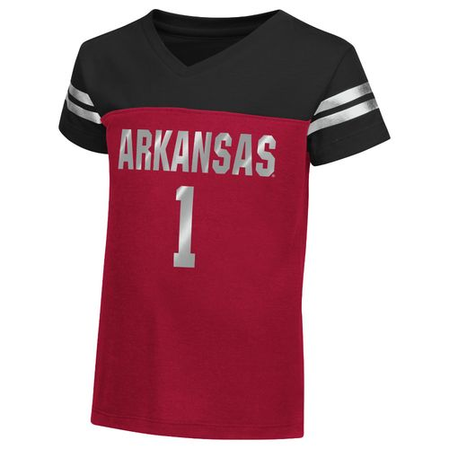Colosseum Athletics™ Toddler Girls' University of Arkansas Nickle T-shirt