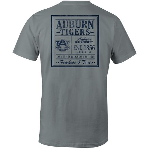 Image One Men's Auburn University Comfort Color Vintage Poster Short Sleeve T-shirt