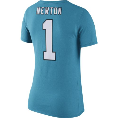 Display product reviews for Nike Women's Carolina Panthers Cam Newton 1 Player Pride T-shirt