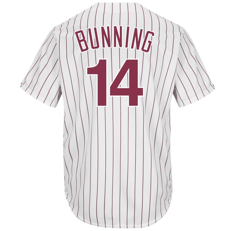 Majestic Men's Philadelphia Phillies Jim Bunning #14 Cool Base Cooperstown Jersey
