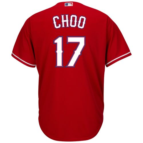 Majestic Men's Texas Rangers Shin-Soo Choo #17 Cool Base Replica Jersey