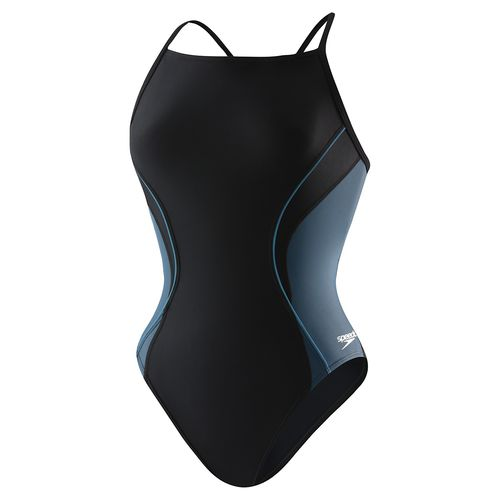 Speedo Women's Revolve Splice Energy Back 1-Piece Swimsuit