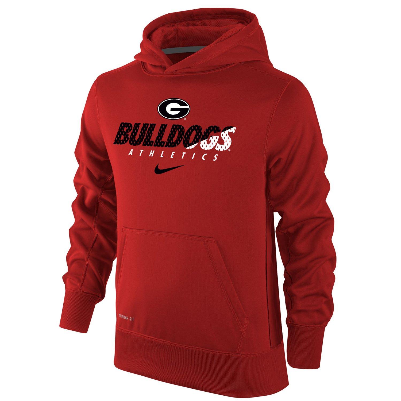 Nike Boys' University of Georgia Therma-FIT KO Hoodie
