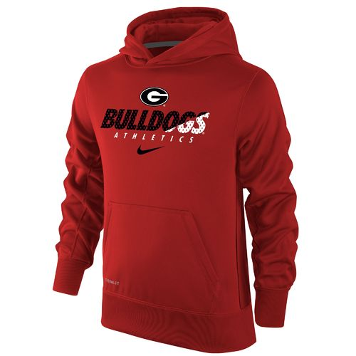 Nike Boys' University of Georgia Therma-FIT KO Hoodie