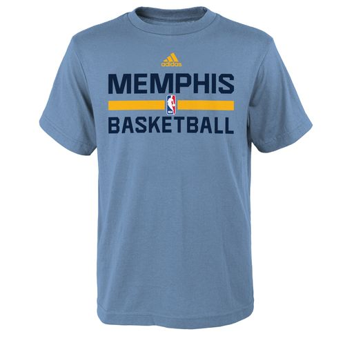 adidas™ Boys' Memphis Grizzlies Practice Wear Graphic T-shirt