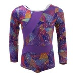 Capezio® Girls' Future Star Rainbow Cyclone Printed Leotard