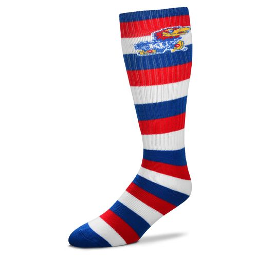 For Bare Feet Men's University of Kansas Pro Stripe Tube Socks