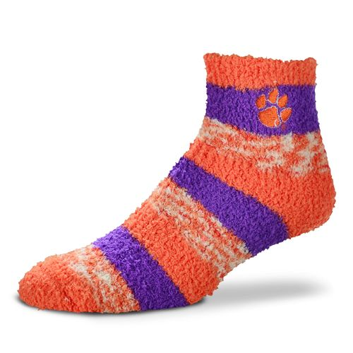 FBF Originals Women's Clemson University Pro Stripe Sleep Soft Socks