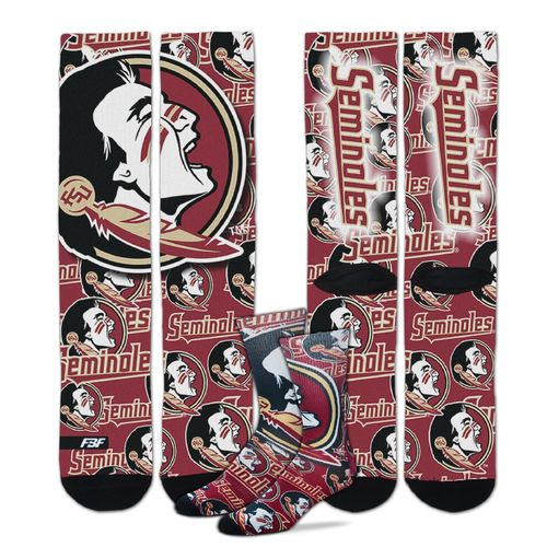 For Bare Feet Men's Florida State University Sublimated Socks