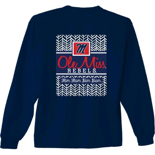 New World Graphics Women's University of Mississippi Herringbone Long Sleeve T-shirt