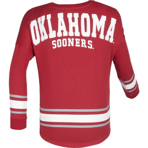 Colosseum Athletics™ Girls' University of Oklahoma Boyfriend Varsity Pullover