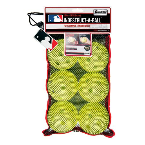 Franklin Indestruct-a-Ball™ 12' Oversize Limited-Flight Baseballs 6-Pack