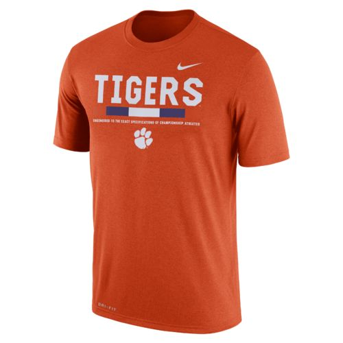Nike™ Men's Clemson University Dri-FIT Legend Staff T-shirt