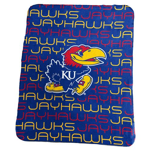 Logo University of Kansas 50 in x 60 in Classic Fleece Blanket