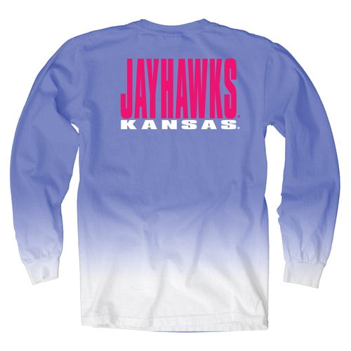 Blue 84 Women's University of Kansas Ombré Long Sleeve Shirt