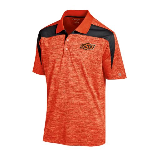 Champion™ Men's Oklahoma State University Synthetic Colorblock Polo Shirt
