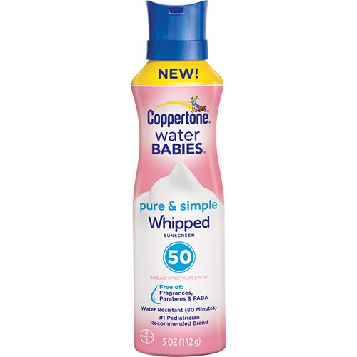 Coppertone WaterBabies Pure & Simple Whipped SPF 50 Sunscreen