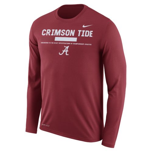 Nike Men's University of Alabama Dry Legend Long Sleeve Staff T-shirt