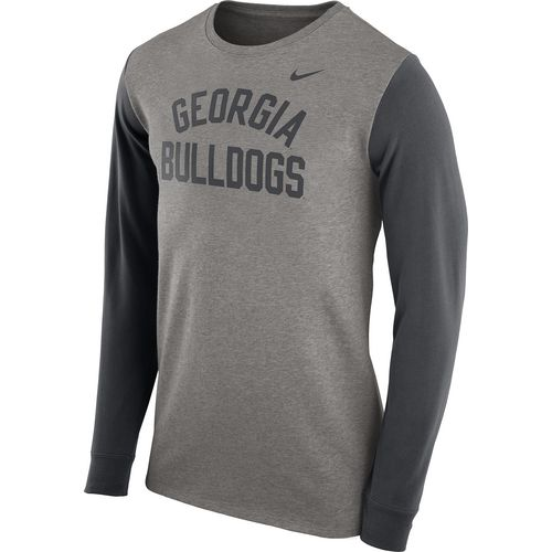 Nike Men's University of Georgia Heavyweight Elevated Essentials Long Sleeve T-shirt