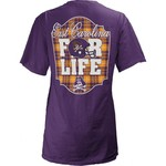 Three Squared Juniors' East Carolina University Team For Life Short Sleeve V-neck T-shirt - view number 1