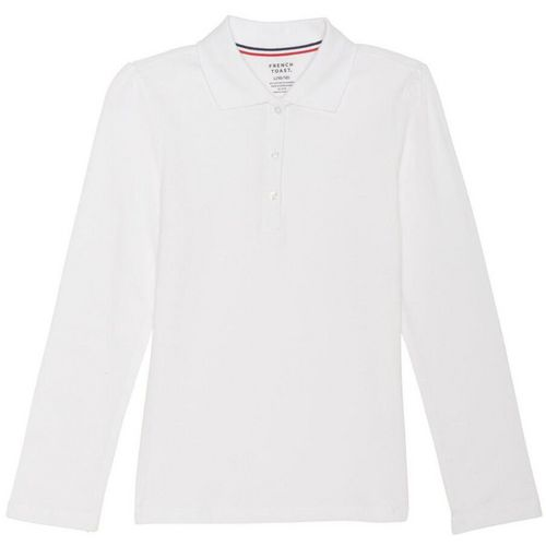 French Toast Girls' Long Sleeve Stretch Pique Polo