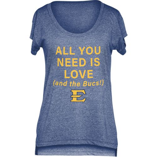 Chicka-d Women's East Tennessee State University Scoop-Neck T-shirt