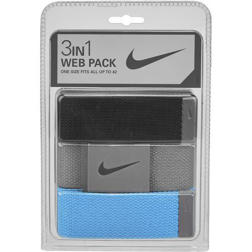 Nike Men's Web Belts 3-Pack - view number 1