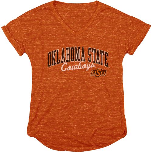 Blue 84 Women's Oklahoma State University Dark Confetti V-neck T-shirt
