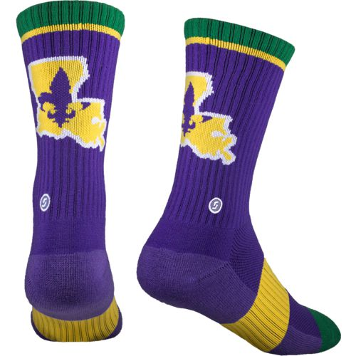 Skyline Louisiana Crew Socks