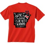 New World Graphics Girls' Arkansas State University Where the Heart Is Short Sleeve T-shirt - view number 1