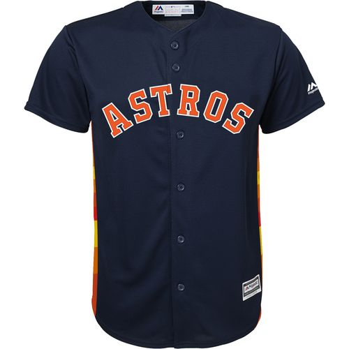 Majestic Boys' Houston Astros Jose Altuve COOL BASE Replica Jersey