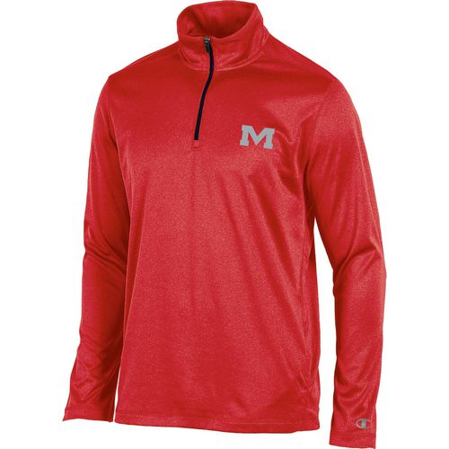 Champion Men's University of Mississippi Victory 1/4 Zip Long Sleeve Pullover