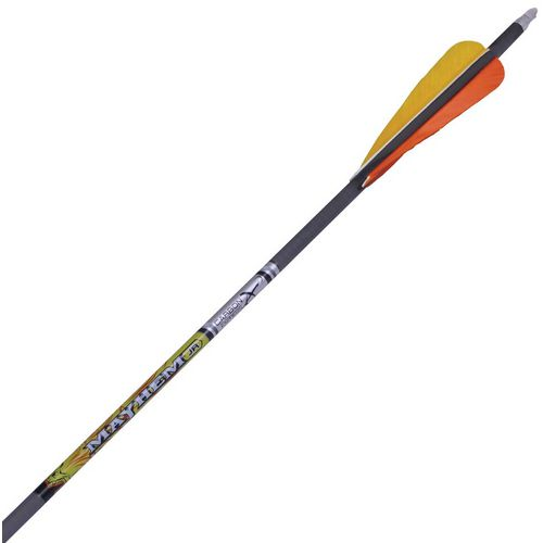 Carbon Express Mayhem Jr. Youth Carbon Arrows with Parabolic Feathers 3-Pack