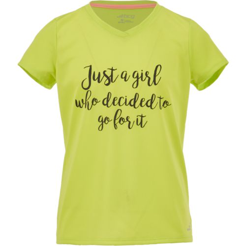 BCG Girls' Just a Girl Short Sleeve T-shirt