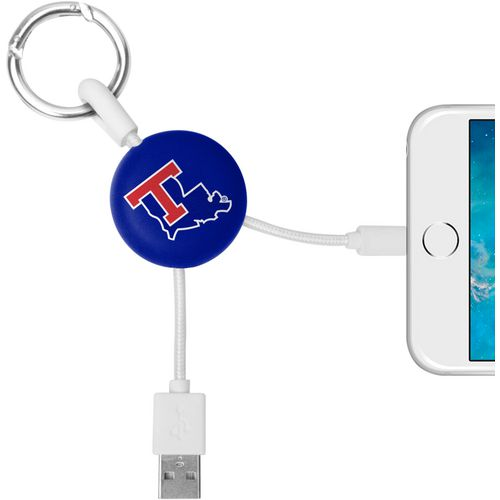 Mizco Louisiana Tech University Lightening Phone Charger Keychain Cable
