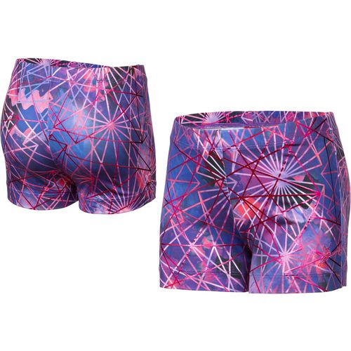 Capezio Girls' Future Star Electric Geometry Printed Short - view number 3