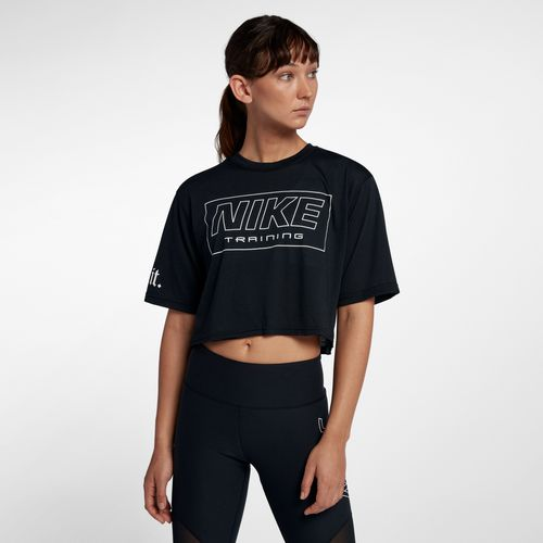 Nike Women's Training Graphic Short Sleeve Crop T-shirt - view number 8