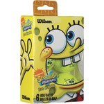 Wilson SpongeBob Yellow Golf Balls 6-Pack
