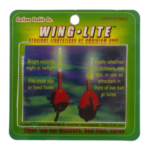 Carlson Tackle Wing It Wing Lite Mini Light Sticks 2-Pack - view number 1