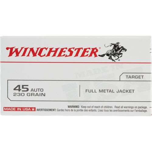 Winchester USA FMJ .45 Automatic 100-round 230-Grain Target