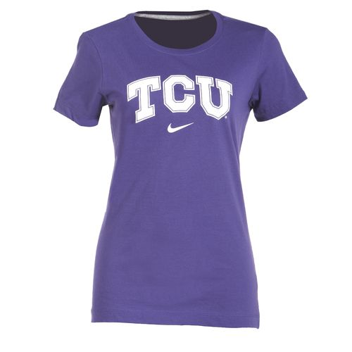 Nike Women's Texas Christian University Arch Short Sleeve T-shirt